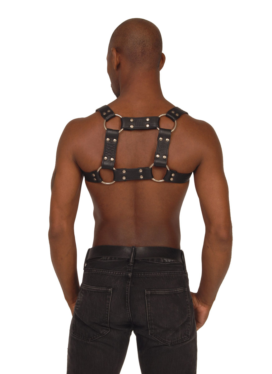 Mens Leather Chest Harness