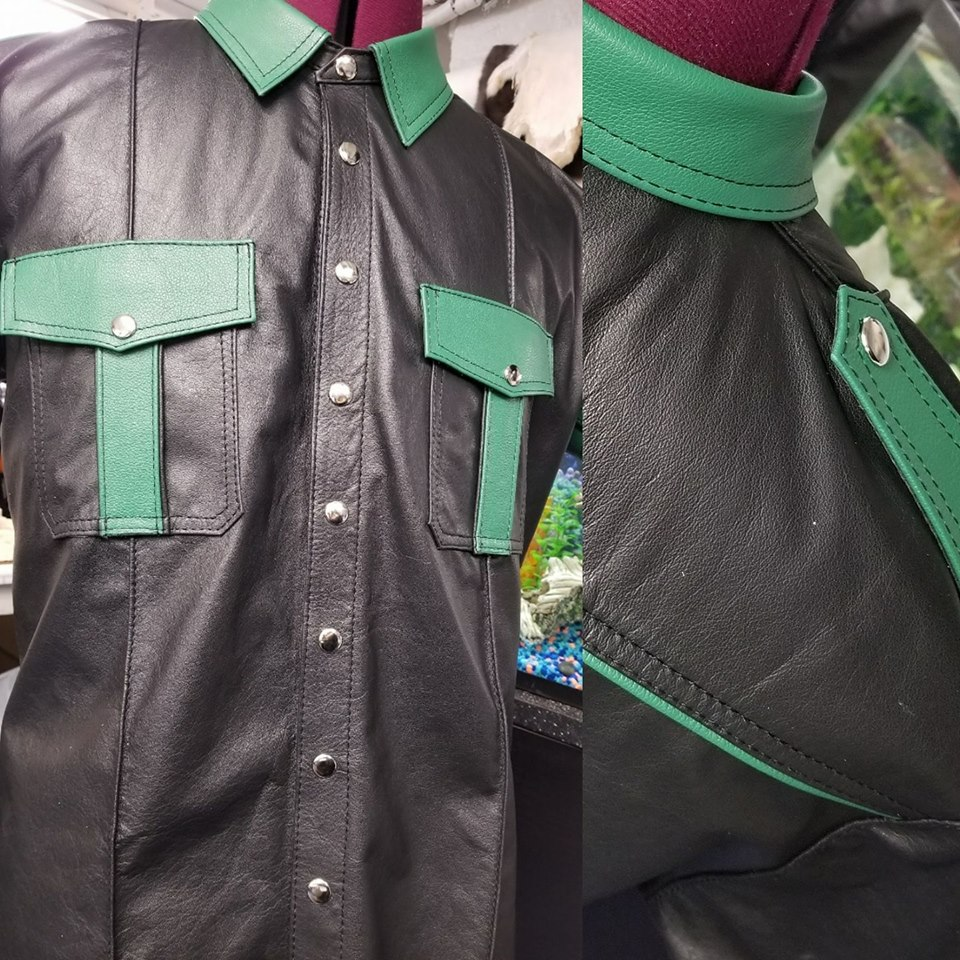 Leather Uniform Shirt Leather 64 Ten Chicago