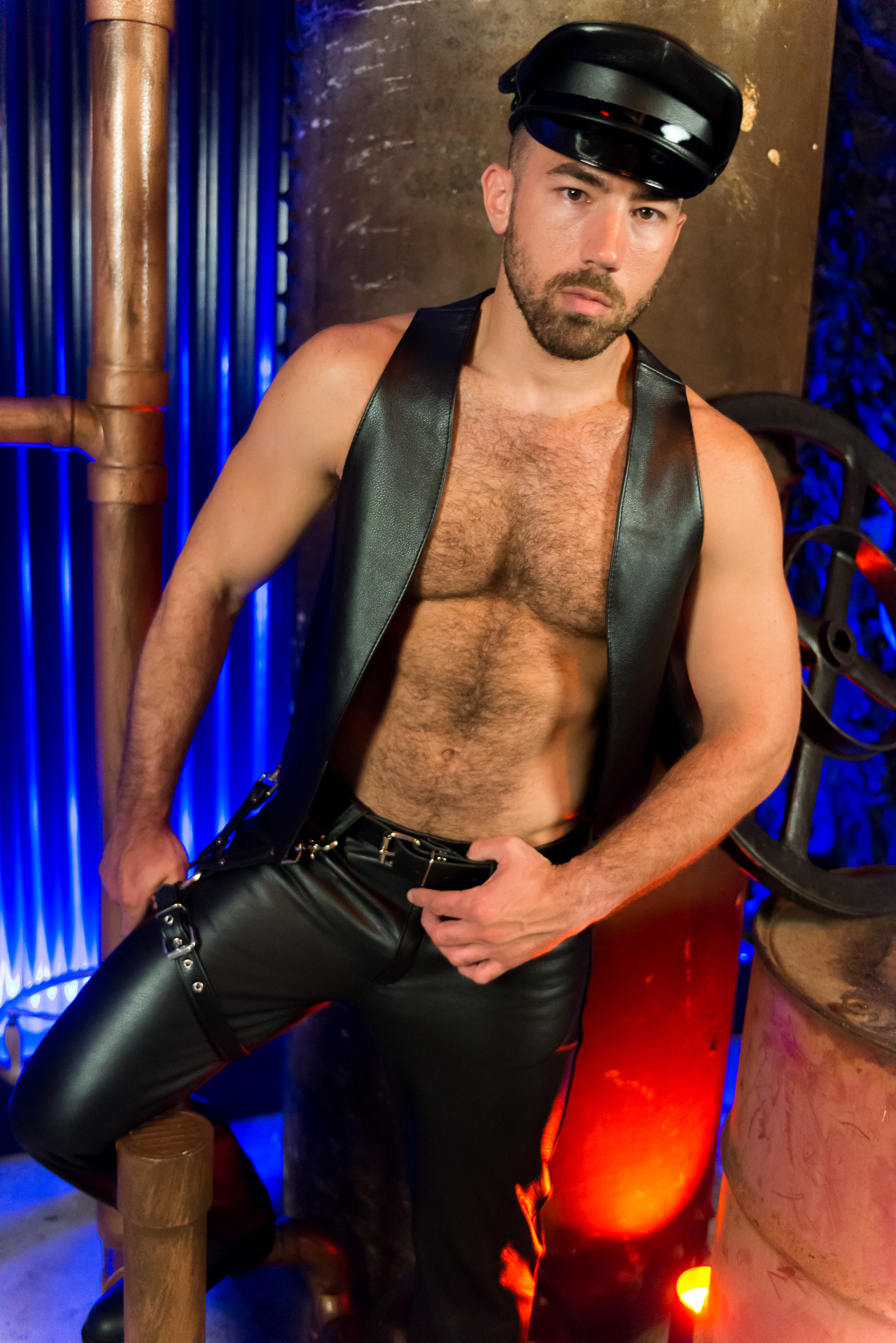 Leather Bar Vest