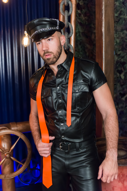 Leather Uniform Shirt Leather 64 Ten Chicago