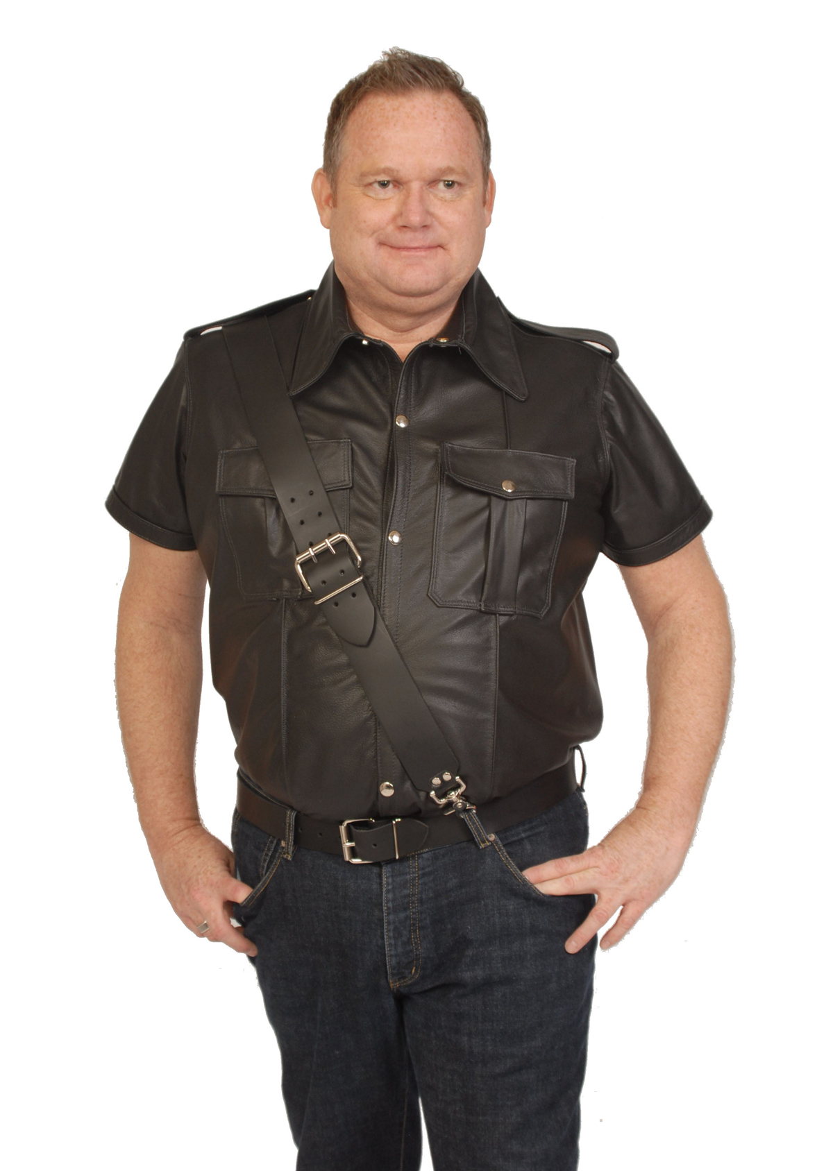 uniform shirt leather ten