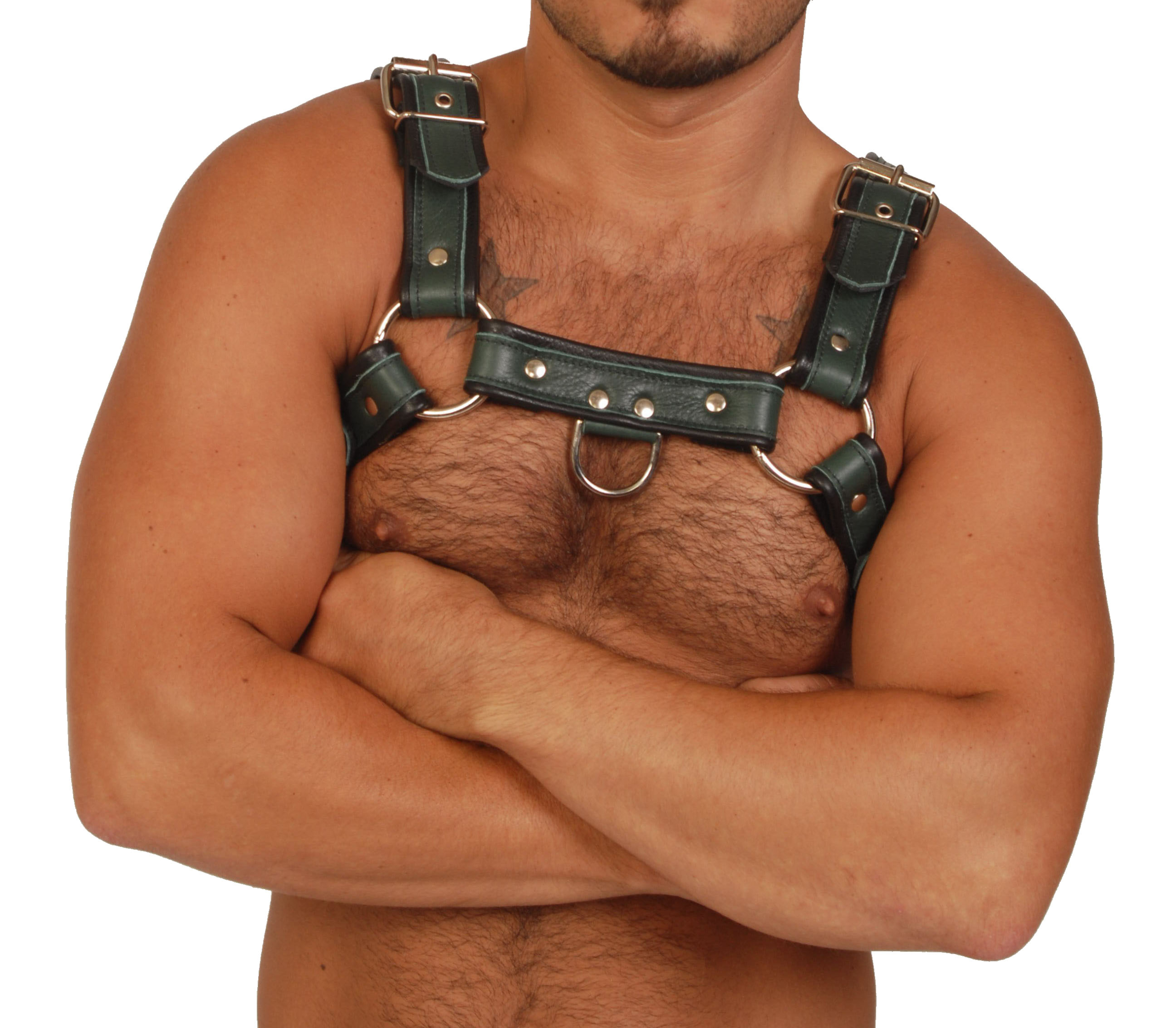 soft sewn bulldog leather chest harness