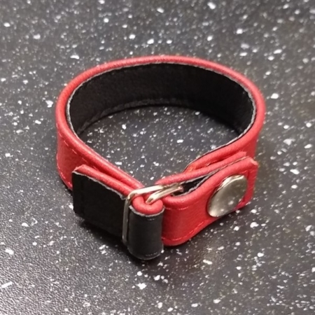 THE CINCH BAND E-Z LEATHER COCK RING RED