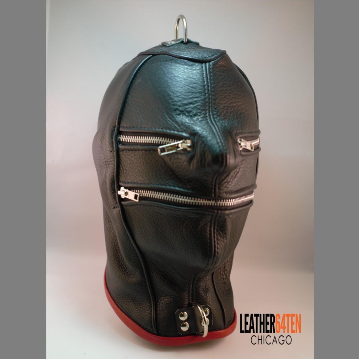 Zipper Face Leather Hood Leather 64 Ten
