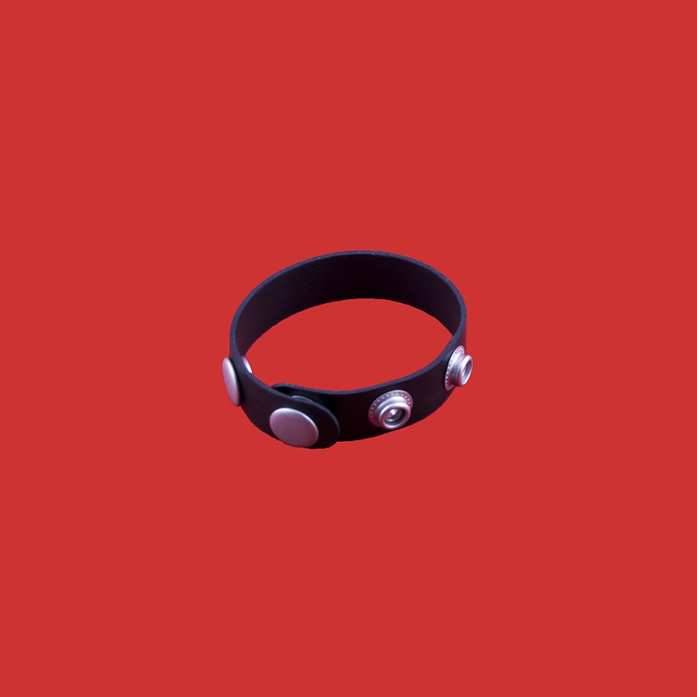 PROXIMA 3 Speed Rubber Cock Ring - Leather 64 Ten Chicago