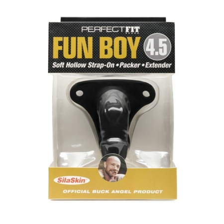 Perfect Fit Buck Angel Fun Boy Soft Hollow Dildo Black in pkg 002