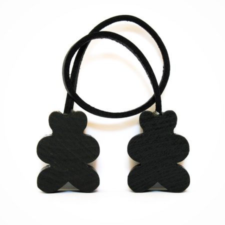 black bear leather scented air freshener