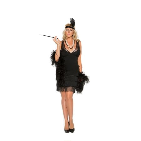 Sexy Flapper 1920's Style Fringe Dress Halloween Costume - Plus Size