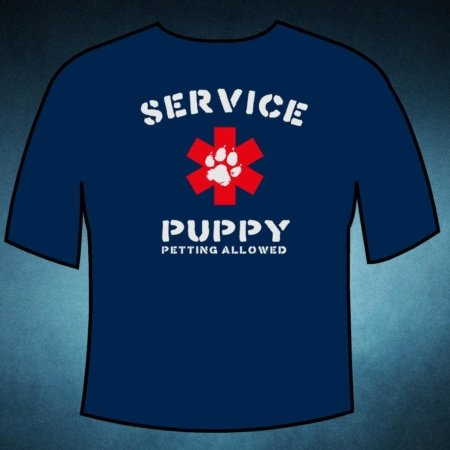 Service Puppy T-Shirt by Pup Gear USA