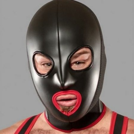 Cock Suckin' Neoprene Hood Red Front