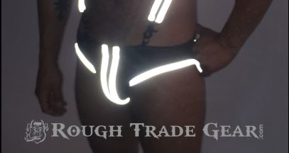 Decadence Ring Neoprene Jock Reflexxx Front Glowing