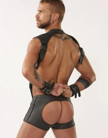 Receiver Open Back Shorts Back Black
