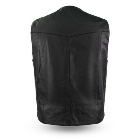 Top Shot - Classic Western Leather Vest Back