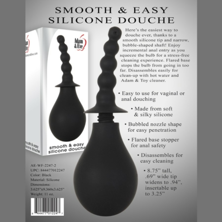 Adam & Eve Smooth & Easy Silicone Anal Douche Black info