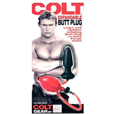 COLT EXPANDABLE BUTT PLUG DEVLIN BLACK & RED in box
