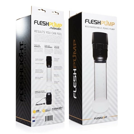 Fleshlight Fleshpump USB Rechargeable Penis Pump Clear 7.4 Inches