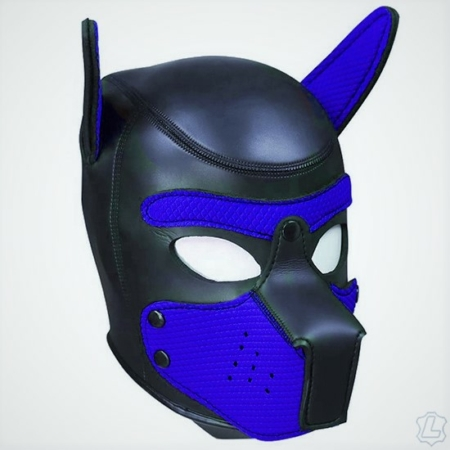 Neoprene Puppy Hood - Blue/Black