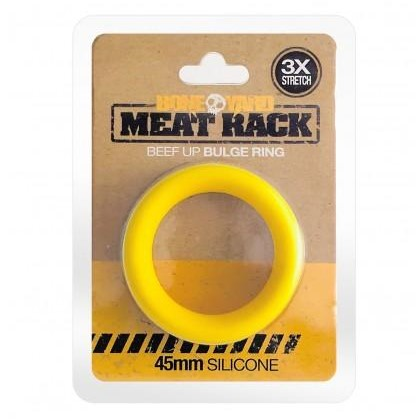Boneyard Meat Rack Cock Rings - Yellow in pkg