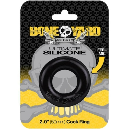 Boneyard Ultimate Silicone Cock Ring Black