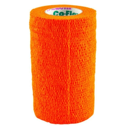 Co-Flex Cohesive Flexible Bandages by Andover - Safety Orange