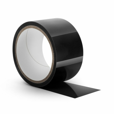 Hott Products Sex Wrap Tease Tape - Black unpackaged