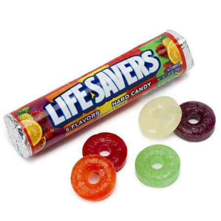 Lifesavers Hard Candy 1.14 oz 5 Flavors Roll