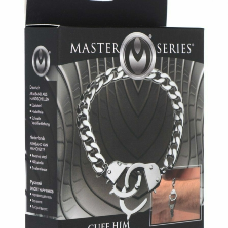 Master Series Cuff Him Handcuff Bracelet Nickel Free in pkg