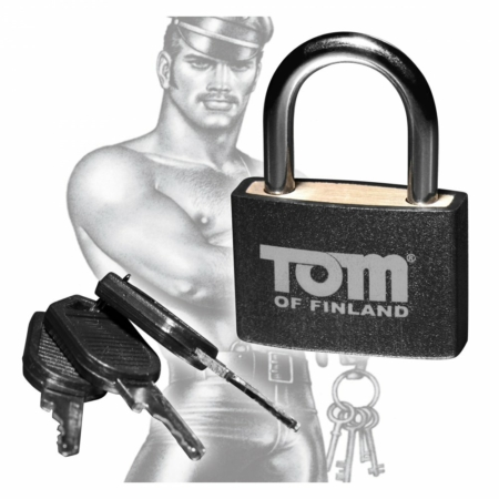 Tom of Finland Black Metal Padlock with 3 Keys