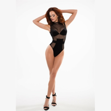 Adore by Allure CHLOE the Cat Eyes Bodysuit Small 006