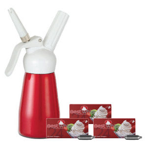 Best Whip Cream Dispenser Half Pint Red