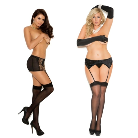 Black Sheer Thigh Hi Stockings