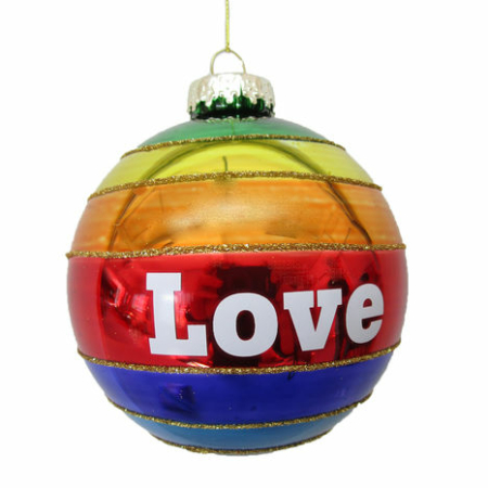 4 inch Rainbow LOVE Ornament