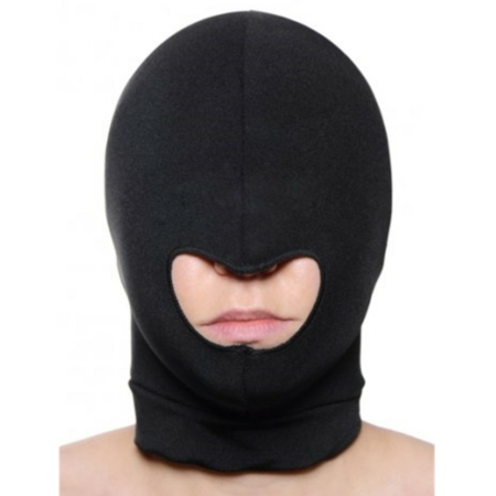 Master Series BLOW HOLE Open Mouth Black Spandex Hood 002