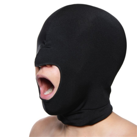 Master Series BLOW HOLE Open Mouth Black Spandex Hood