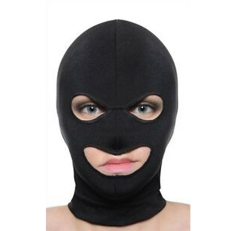 Master Series FACADE Black Spandex Hood with Eye and Mouth Holes 002