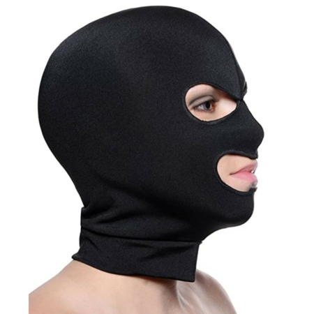 Master Series FACADE Black Spandex Hood with Eye and Mouth Holes
