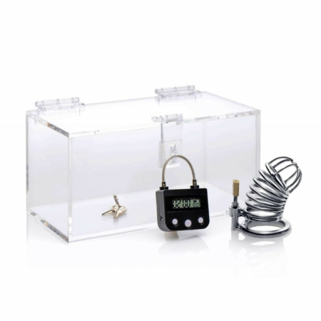 Master Series The Chastity Time Lock with keys in box